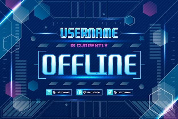 Banner de contração offline Vetor grátis