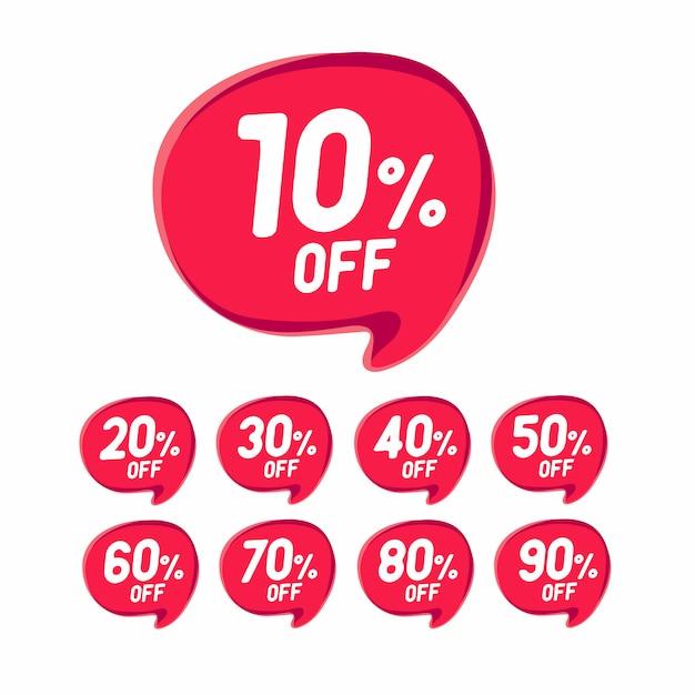 Banner de desconto de venda. desconto oferta preço. Vetor Premium