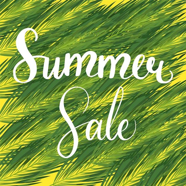 Banner de desconto sazonal de venda de verão Vetor Premium