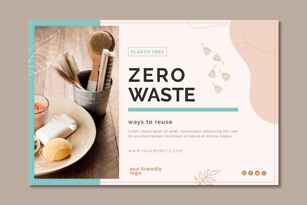 Banner de desperdício zero Vetor grátis