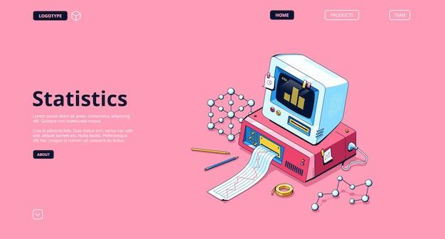 Banner de estatísticas. serviço de análise e pesquisa de dados, informação estatística. Vetor grátis