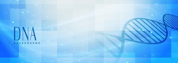 Banner de estrutura de dna de ciências médicas Vetor grátis
