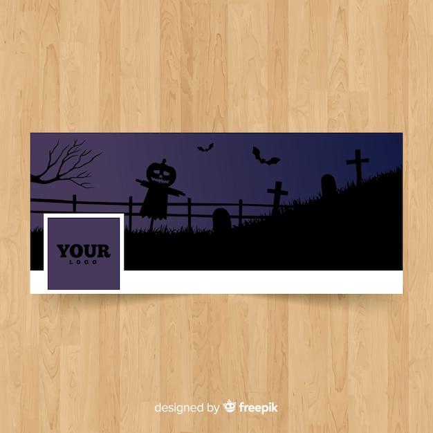 Banner de facebook halloween criativo Vetor grátis