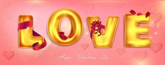 Banner de felicitações com letras douradas em fundo rosa Vetor Premium