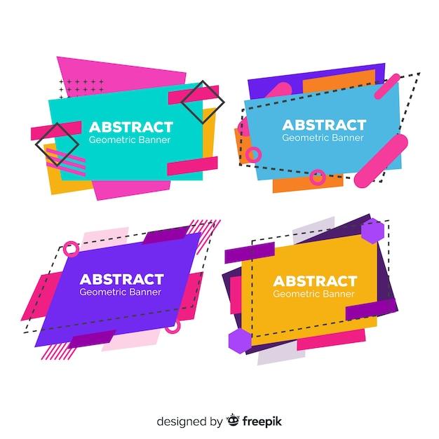 Banner de formas geométricas coloridas Vetor grátis