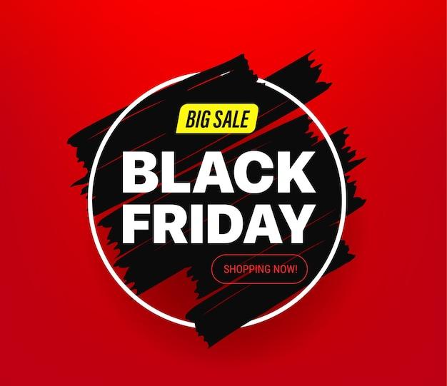 Banner de grande venda da black friday Vetor Premium