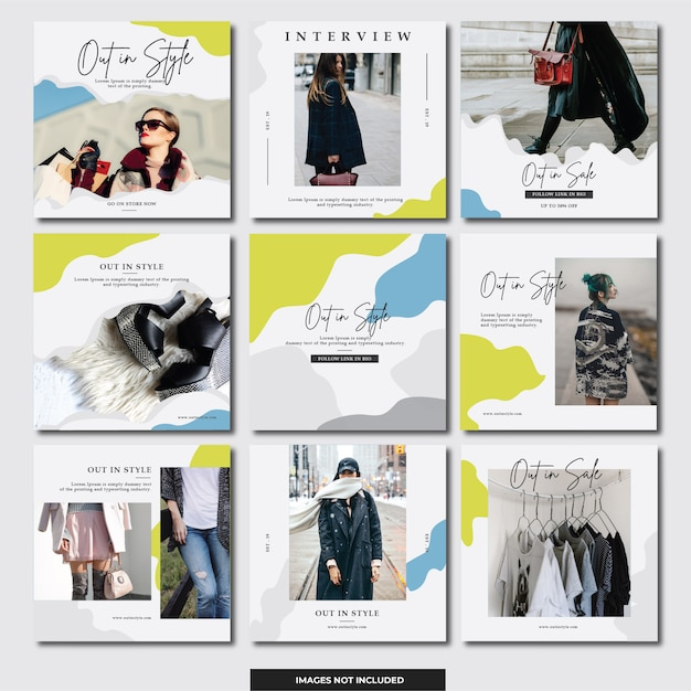 Banner de instagram de mídia social (moda) Vetor Premium