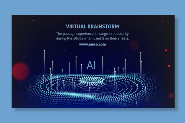 Banner de inteligência artificial Vetor grátis