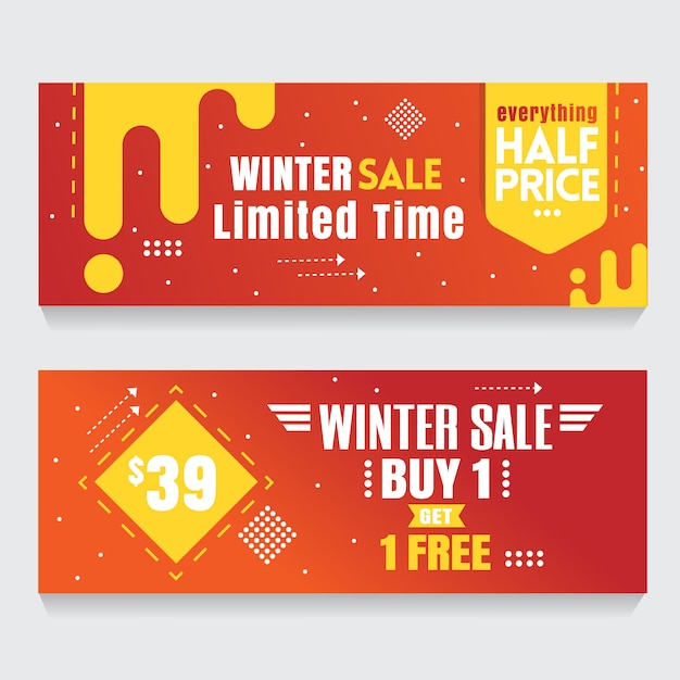Banner de laranja fundo abstrato flash venda Vetor Premium
