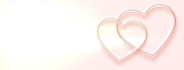 Banner de lindos corações com espaço de texto Vetor grátis