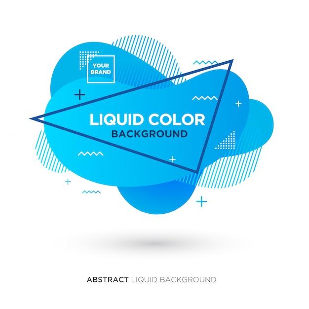 Banner de líquido azul abstrato Vetor Premium