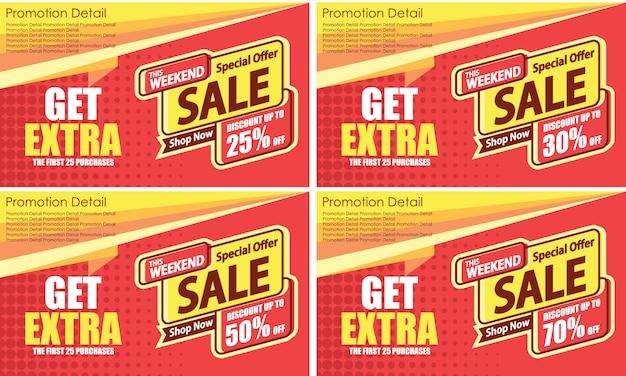 Banner de modelo de venda especial Vetor Premium