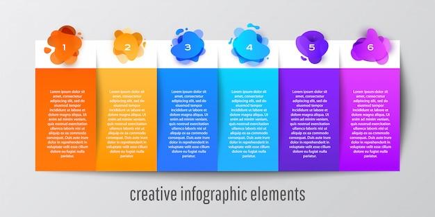 Banner de modelo gráfico de informação de forma abstrata para o site Vetor Premium