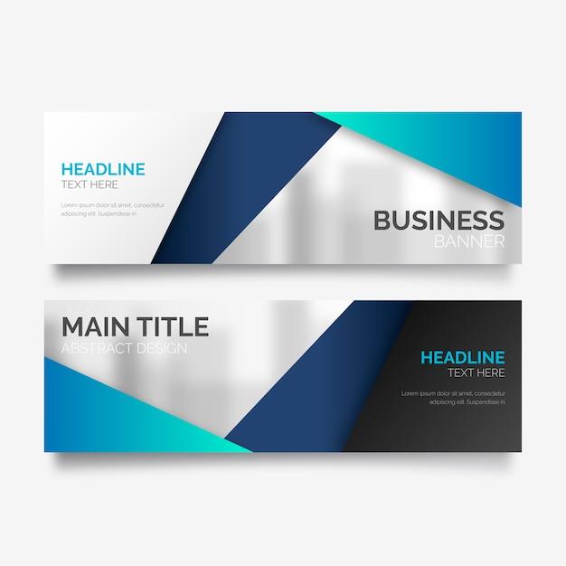 Banner de negócios em design moderno Vetor grátis