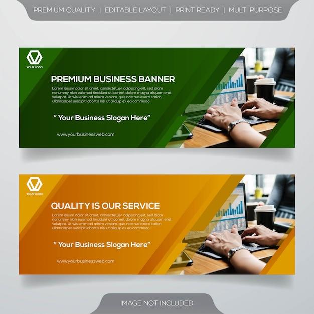 Banner de negócios web Vetor Premium