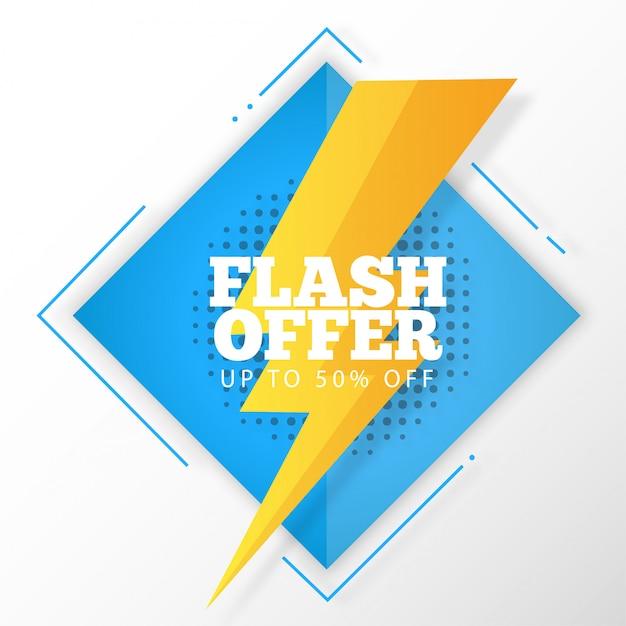 Banner de oferta em flash Vetor grátis