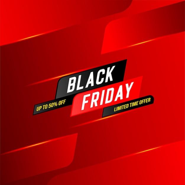Banner de oferta por tempo limitado da venda black friday Vetor Premium