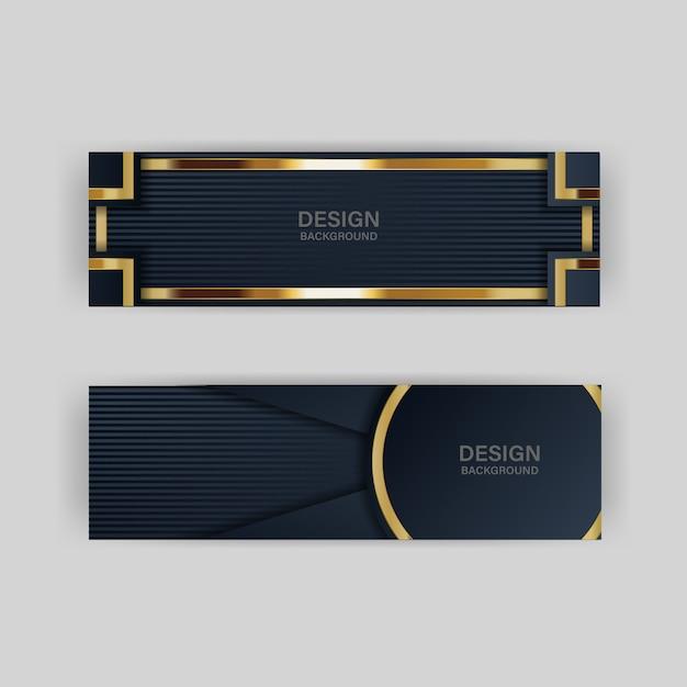 Banner de ouro luxo dourado cor de fundo pano de fundo Vetor Premium
