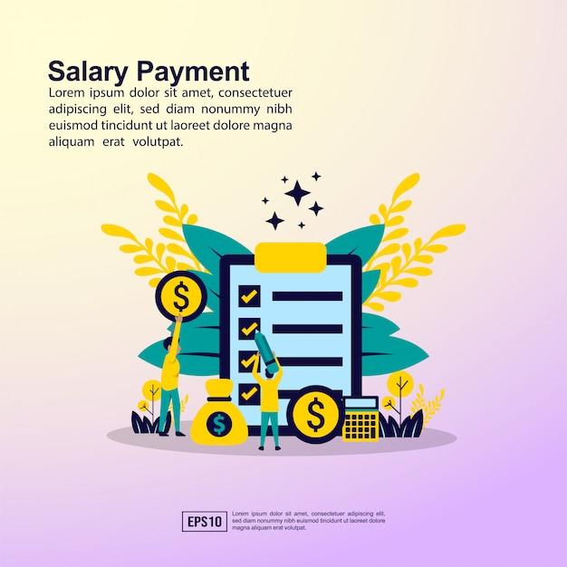 Banner de pagamento de salário Vetor Premium