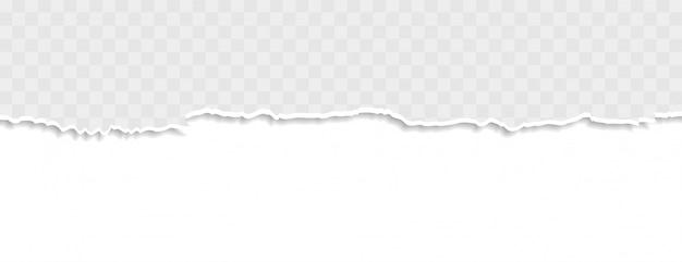Banner de papel rasgado rasgado na cor branca Vetor grátis