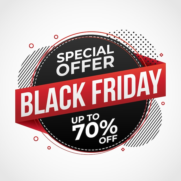 Banner de promoção de venda black friday Vetor Premium