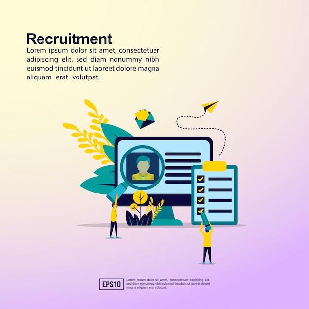 Banner de recrutamento Vetor Premium