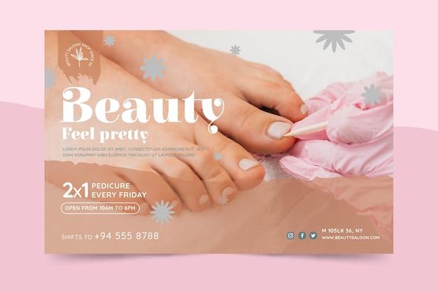 Banner de salão de beleza e saúde Vetor grátis