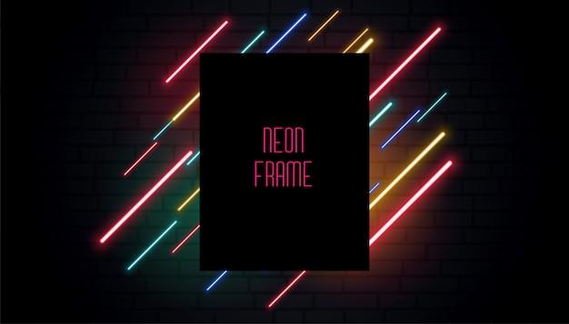 Banner de sinalização de néon do clube Vetor grátis