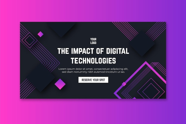 Banner de tecnologia e futuro Vetor grátis