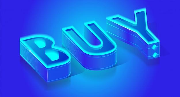 Banner de tipografia de negócios com chamada para comprar Vetor Premium
