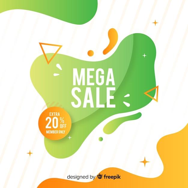 Banner de venda colorido abstrato Vetor grátis