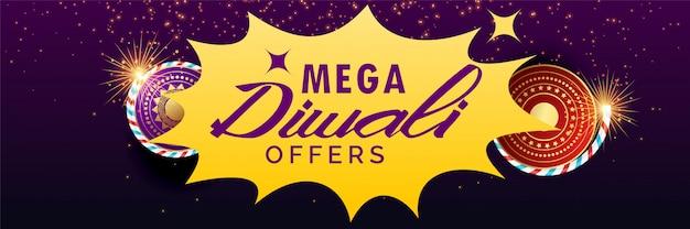 Banner de venda de diwali com bolachas Vetor grátis