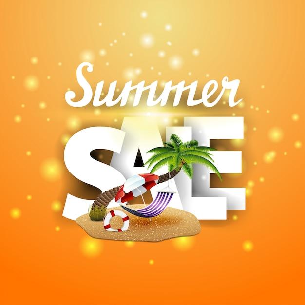 Banner de venda de verão Vetor Premium