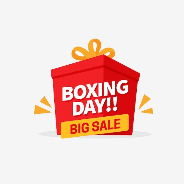 Banner de venda grande dia de boxe Vetor Premium