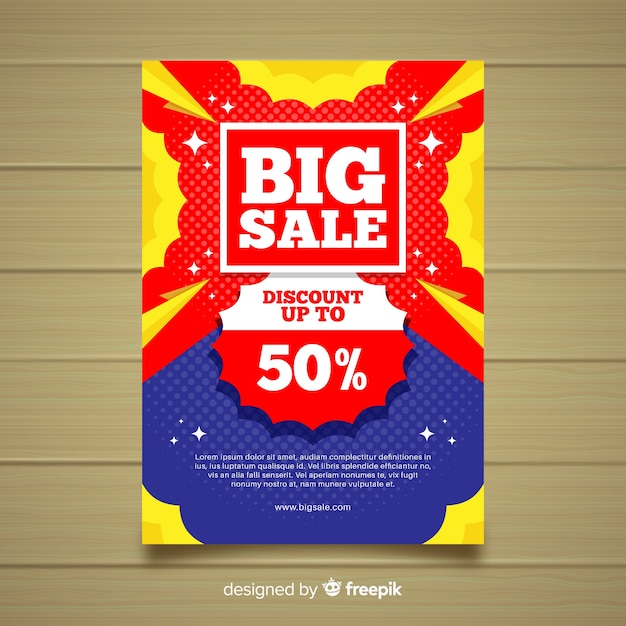 Banner de venda grande Vetor grátis