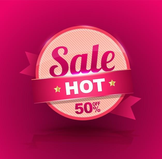 Banner de venda para publicidade de promoção. Vetor Premium