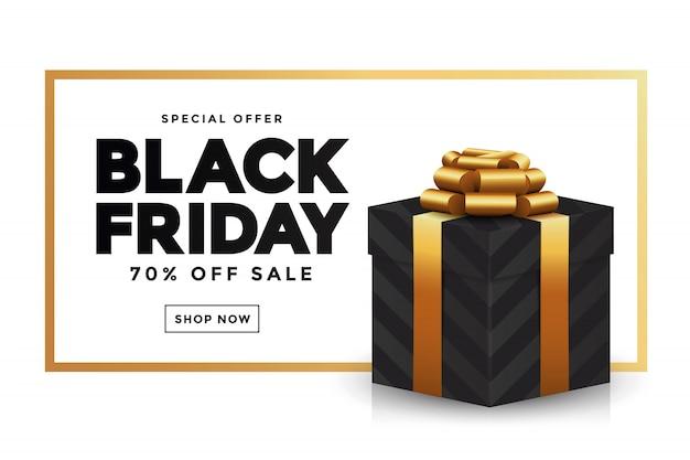 Banner de venda sexta-feira negra 2 Vetor Premium