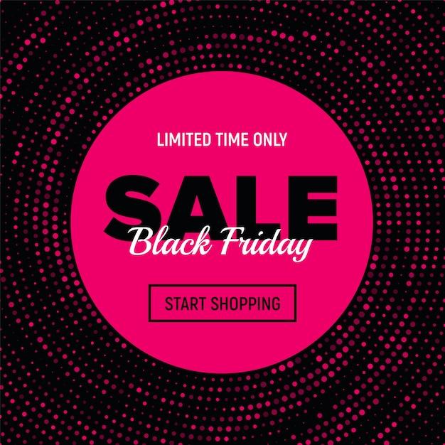 Banner de venda sexta-feira negra. Vetor Premium