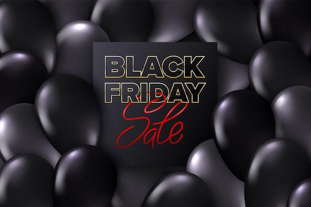 Banner de venda sexta-feira negra Vetor Premium