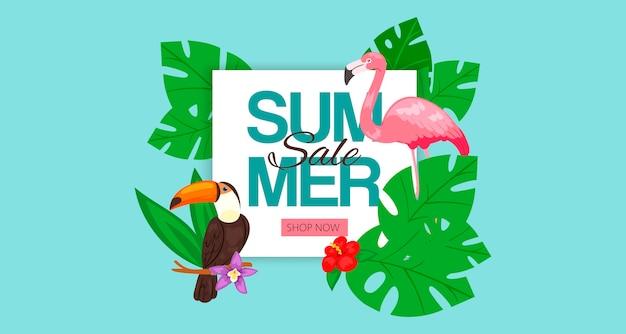Banner de venda verão Vetor Premium