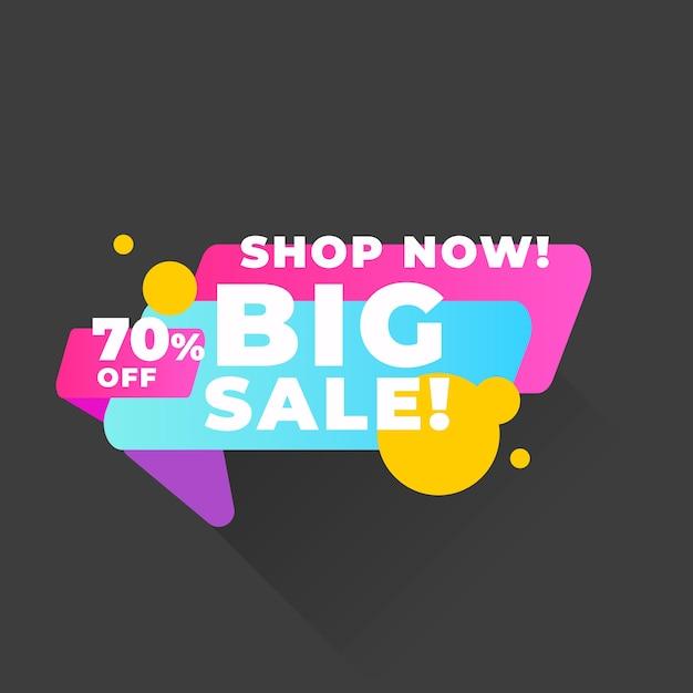 Banner de vendas colorido abstrato Vetor grátis