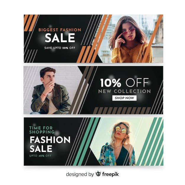 Banner de vendas de moda Vetor grátis