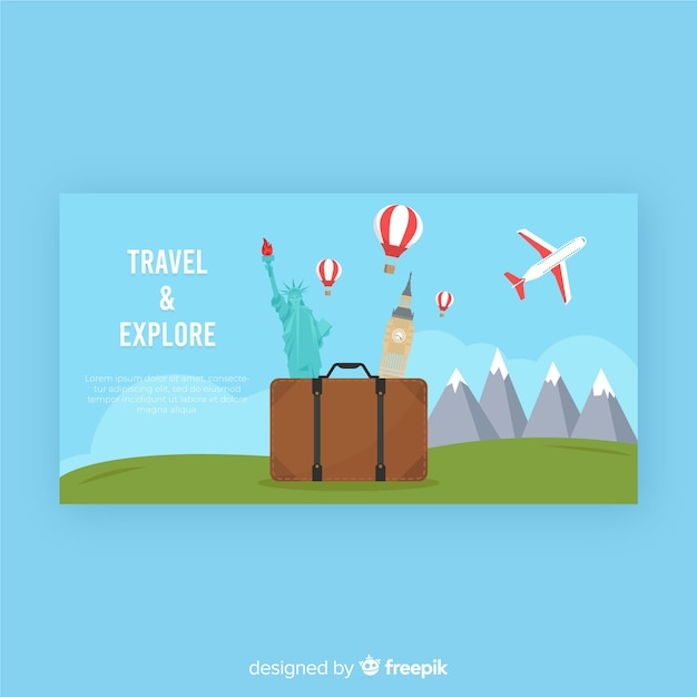 Banner de viagem Vetor grátis