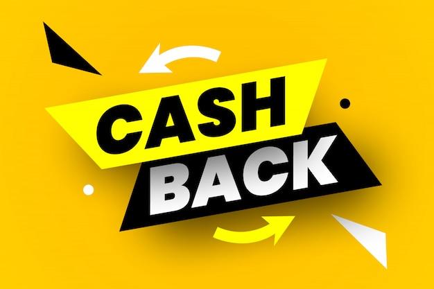 Banner de volta em dinheiro. ilustração. Vetor Premium