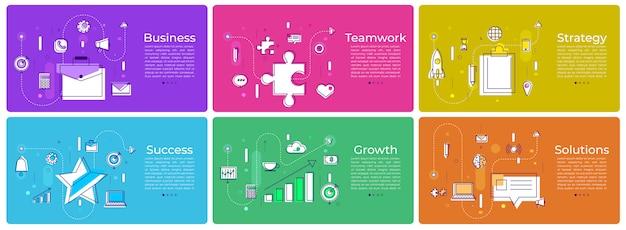 Banner definido marketing digital Vetor Premium