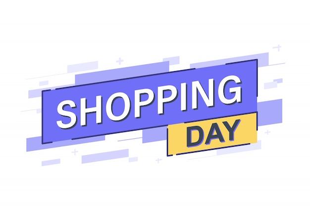 Banner dia de compras Vetor Premium