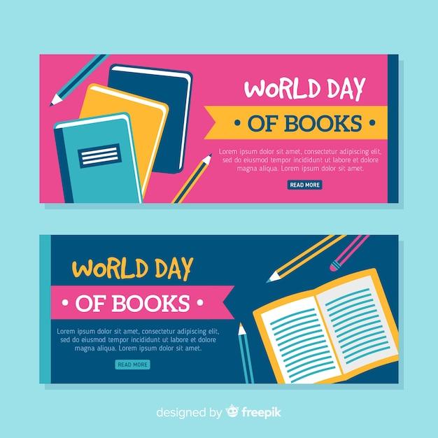 Banner do dia do livro do mundo Vetor grátis
