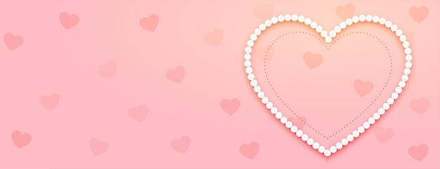 Banner do dia dos namorados com coração Vetor grátis