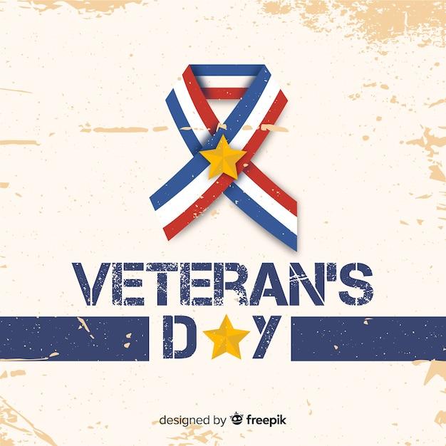 Banner do dia dos veteranos Vetor grátis