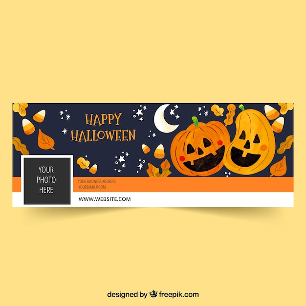 Banner do facebook com o conceito de halloween Vetor grátis